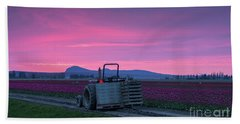 Hand Towel featuring the photograph Skagit Valley Dusk Calm by Mike Reid