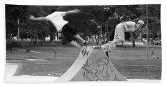 Skate Ballet Hand Towel by Beto Machado
