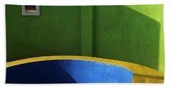 Skc 0305 The Fundamental Colors Hand Towel by Sunil Kapadia