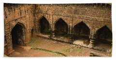 Skc 3278 The Ancient Courtyard Bath Towel by Sunil Kapadia