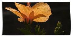 Skc 9937 The Grace Of Hibiscus Hand Towel by Sunil Kapadia