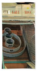 Skee Ball At Marty's Playland Hand Towel