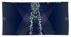 Bath Towel featuring the digital art Skeletal System by Iowan Stone-Flowers