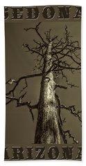 Skeletal Tree Sedona Arizona Hand Towel