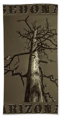 Skeletal Tree Sedona Arizona Bath Towel