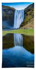 Bath Towel featuring the photograph Skogafoss 2 by Mariusz Czajkowski