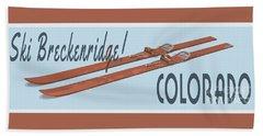 Ski Breckenridge Colorado Hand Towel