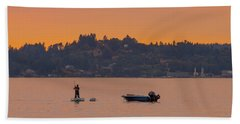 Skiff Anchored - Dinghy Ride Back To Shore Bath Towel