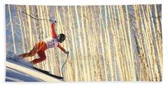 Skiing In Aspen, Colorado Bath Towel