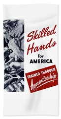 Skilled Hands For America Bath Towel