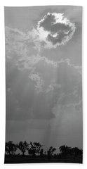 Skn 2170 Blessings Showered Hand Towel by Sunil Kapadia