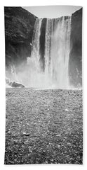 Skogafoss In Winter Hand Towel