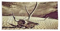 Skull And Antlers Bath Towel