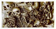 Skull And Cross Bone Treasure Hand Towel