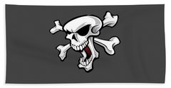 Crossbones 2 T-shirt Bath Towel by Herb Strobino