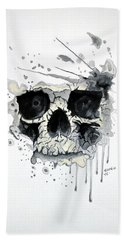 Skull Hand Towel by Edwin Alverio