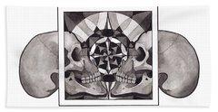 Skull Mandala Series Nr 1 Bath Towel
