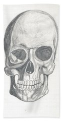 Skull Study 2 Bath Towel