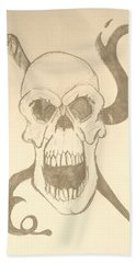 Skull Tattoo Bath Towel