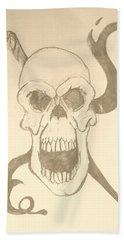 Skull Tattoo Bath Towel