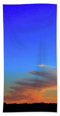 Sky And Cloud At Sunset Three  Bath Towel by Lyle Crump