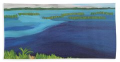 Serene Blue Lake Hand Towel