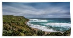 Bath Towel featuring the photograph Sky Blue Coast by Perry Webster
