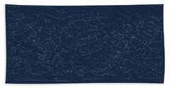 Sky Chart Map Of Stars And Constellations Bath Towel