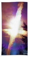 Sky Cross Sunset In Northern California Hand Towel
