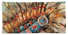 Sky Feather Detail Hand Towel