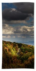 Hand Towel featuring the photograph Sky Over The Skyway by Greg Mimbs