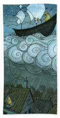 Sky Sailing Hand Towel