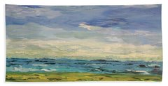 Sky, Sea And Golf  Hand Towel by Geeta Biswas