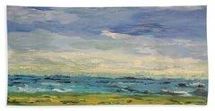 Sky, Sea And Golf  Bath Towel by Geeta Biswas