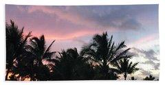 Sky With Palm Trees Hand Towel
