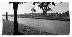 Bath Towel featuring the photograph Skyline Maastricht by Nop Briex