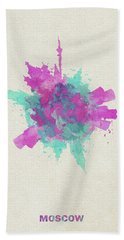 Skyround Art Of Moscow, Russia Hand Towel