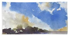 Bath Towel featuring the painting Skyscape 4 by Rae Andrews