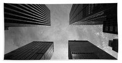 Skyscraper Intersection Hand Towel by Linda Edgecomb