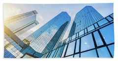 Skyscrapers Bath Towel by JR Photography