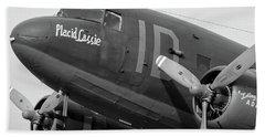 Skytrain In Black And White - 2017 Christopher Buff, Www.aviationbuff.,com Bath Towel
