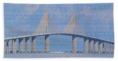 Skyway Bridge Hand Towel by Rosalie Scanlon