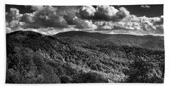 Skyway Clouds In Black And White Bath Towel