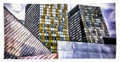 Slanted Las Vegas Skyline Hand Towel by Walt Foegelle