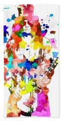 Slash Colorful Grunge Hand Towel