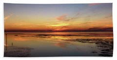 Bath Towel featuring the photograph Touching The Golden Cloud by Thierry Bouriat