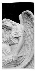 Sleeping Angel Hand Towel by Jean Haynes