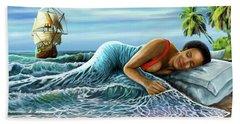 Sleeping Beauty Hand Towel by Anthony Mwangi