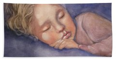 Sleeping Beauty Hand Towel by Marilyn Jacobson