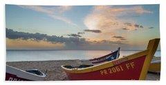 Sleeping Boats On The Beach Hand Towel